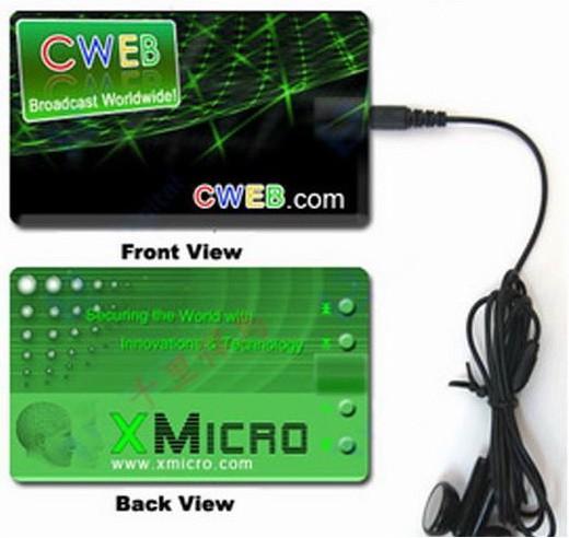 Carte Mp3 format carte de crédit