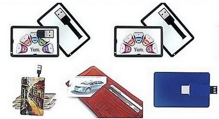 clé usb carte de crédit - différents modèles de cartes USB