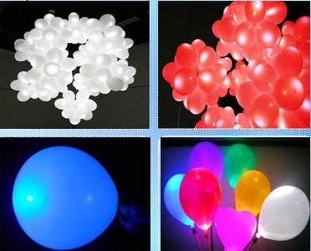Gadget lumineux : grappe de ballons lumineux