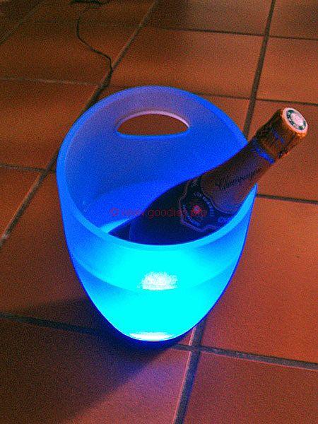 cadeau personnalisé : seau à champagne lumineux