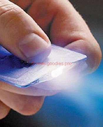 goodies publicitaires : lampe de poche format carte de crédit
