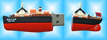 articles publicitaires - clé USB en forme de bateau
